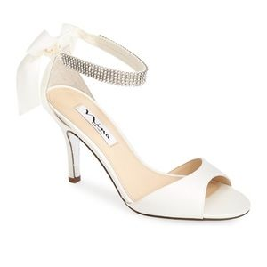 Vinnie' Crystal Embellished Ankle Strap Sandal